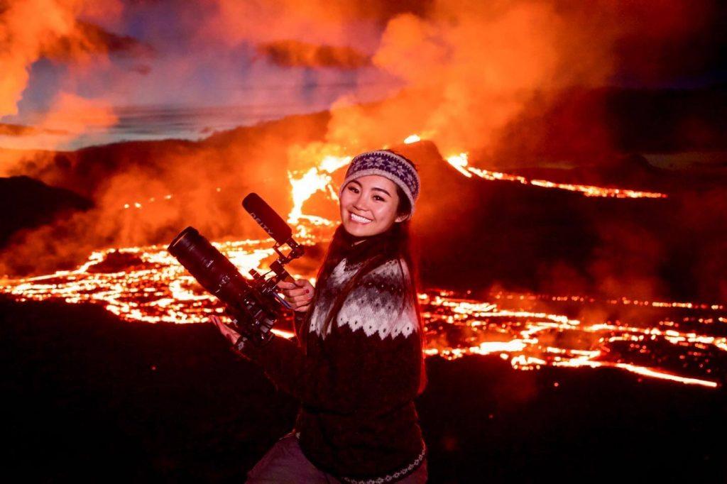 火山 アイスランド 写真